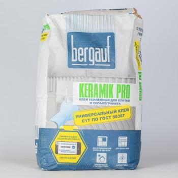 Клей для плитки (С0 Т) Bergauf Pro Keramik, 20 кг