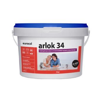 Клей Arlok для ПВХ покрытий (34, 7 кг, 320-480 г/м2, для бытового линолеума, срок хранения 12 мес, морозостойкий)