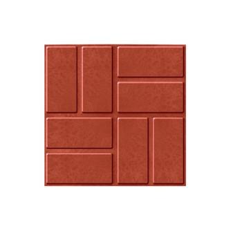 Плитка тротуарная полимерпесчаная 330х330х20 мм красная