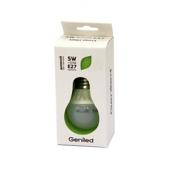 Лампа светодиодная шар 5Вт E27 холодный свет GENILED