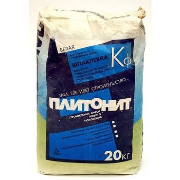 Шпатлевка Плитонит Кф фасадная (белая), 20 кг