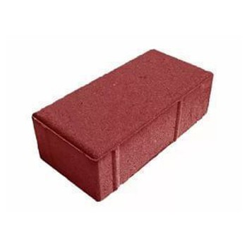 Брусчатка кирпичик красный (100х200х80)