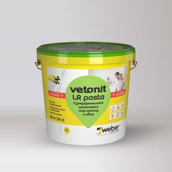 Шпаклевка weber.vetonit LR Pasta под покраску готовая суперфинишная, 20 кг