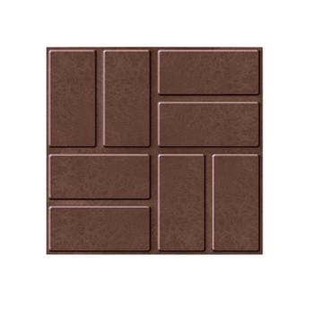 Плитка тротуарная полимерпесчаная 330х330х30 мм, коричневая