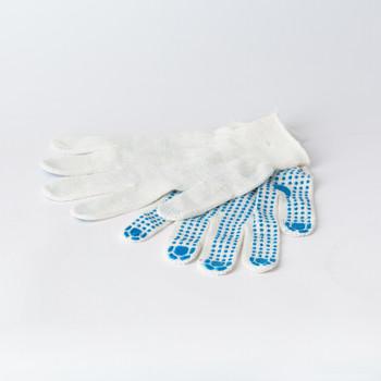 Перчатки х/б с защитой от скольжения ПВХ 3 нити
