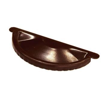 Заглушка желоба Ø125 (RAL 8017-0,5мм) шоколад