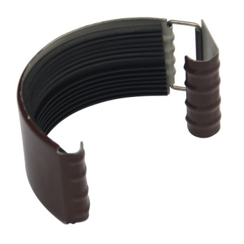 Соединитель желоба Ø125 (RAL 8017-0,5мм) шоколад