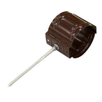 Держатель трубы Ø90 на кирпич (8017-0,6) шоколад