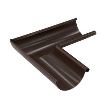 Угол желоба внут.Ø125,90град. (8017-0,5) шоколад