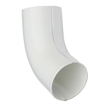 Колено сливное Ø90, 60 гр.(RAL 9010-0,5) белый