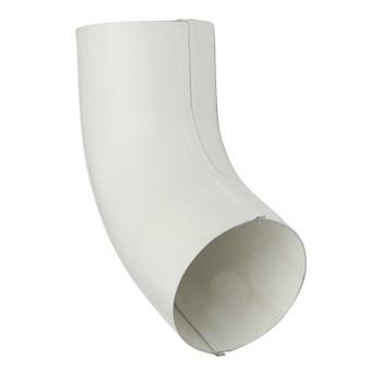 Колено трубы Ø 90, 60 гр. (RAL 9010-0,5) белый