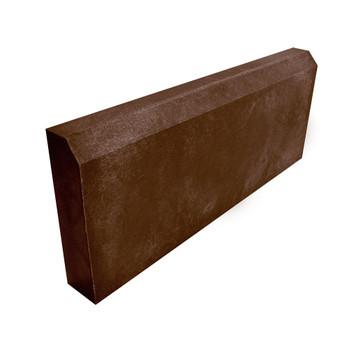 Бордюр тротуарный полимерпесчанный коричневый 500х200х50 мм