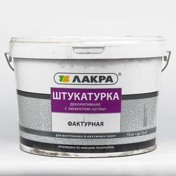 Штукатурка Лакра фактурная декоративная с эффектом шубы Белый 15кг