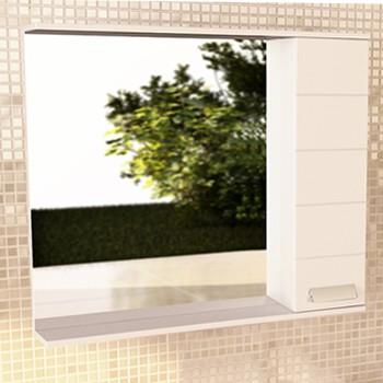 Зеркало-шкаф Модена 90 белый COMFORTY