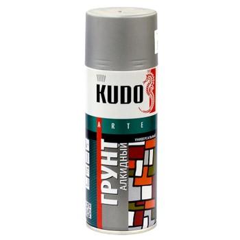 Грунт аэрозольный алкидный серый KUDO (2001) 0,52л
