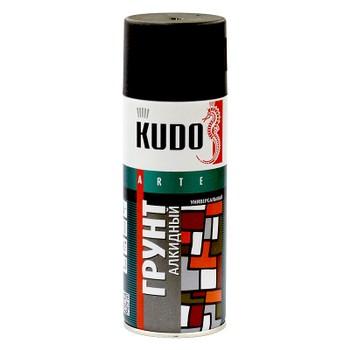 Грунт аэрозольный алкидный черный KUDO (2003) 0,52л