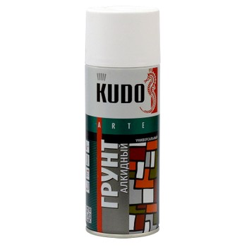 Грунт аэрозольный алкидный белый KUDO (2004) 0,52л