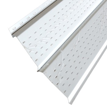 Софит металлический МП с полной перфорацией 15х240(264)х3000мм RAL 9003