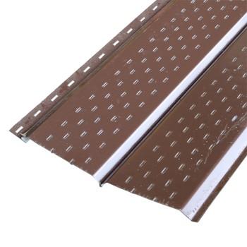 Софит металлический (коричневый RAL 8017) 15х240(264)х3000