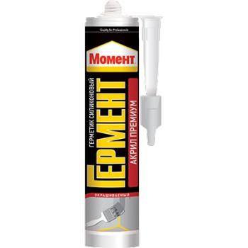 Герметик силиконизированный Момент Гермент Акрил Премиум (белый), 420 мл