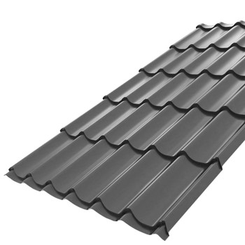 Металлочерепица Монтеррей 2,95х1,19 (ВИКИНГ -7024-0,45 мм) серый графит