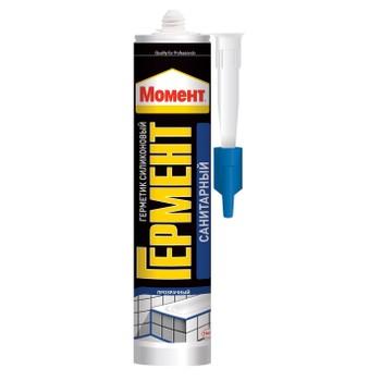 Герметик силиконовый Момент Гермент санитарный (бесцветный), 280 мл