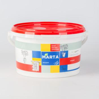 ЭКО Краска MARTA фасадная, белая, 3кг