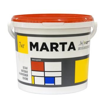Краска Марта фасадная белая, 7кг
