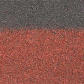 Коньково-карнизная черепица Шинглас, красный 1000х250мм 3м2