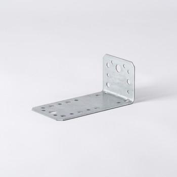 Уголок крепежный ассиметричный 130×50×65×2мм ШК