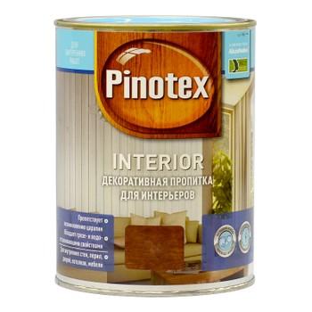 Пропитка декоративная для интерьеров Pinotex Interior Тик, 1л