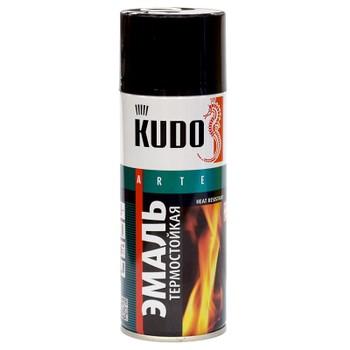 Эмаль аэрозольная термостойкая (до+600°С) черная KUDO (5002) 0,52л