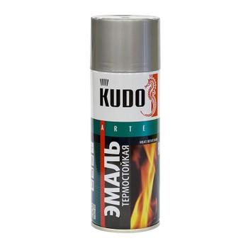Эмаль аэрозольная термостойкая (до+650°С) серебристая KUDO (5001) 0,52л