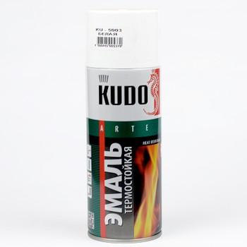 Эмаль аэрозольная термостойкая (до+400°С) белая KUDO (5003) 0,52л