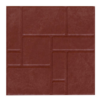Плитка тротуарная полимерпесчаная 330х330х35 мм красная