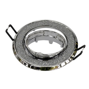 Точечный светильник поворотный 611A SH/SL серебро блеск/хром Ambrella
