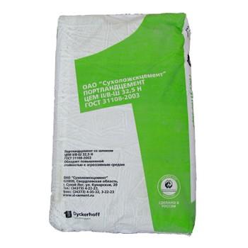 Цемент ЦЕМ II/В-Ш 32,5Н, Сухой Лог, 50кг (паллета 1,75т)