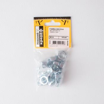 Гайка оцинкованная DIN 934 М10 18 штук в упаковке (пакет) Tech-Krep