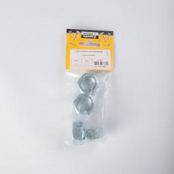 Гайка оцинкованная DIN 934 М20 4 штуки в упаковке (пакет) Tech-Krep