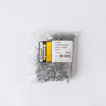 Гвоздь строительный 1,2х20 мм 200 грамм в упаковке (коробка) Tech-Krep