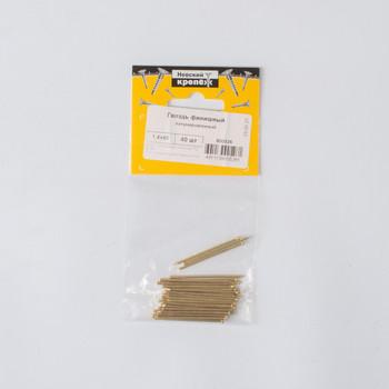 Гвоздь финишный латунированный 1,4х40 мм 40 штук в упаковке (пакет) Tech-Krep