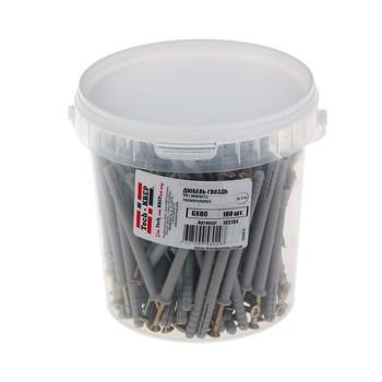 Дюбель-гвоздь с потайной манжетой полипропиленовый 6х80 мм 100 штук в упаковке (ведро) Tech-Krep