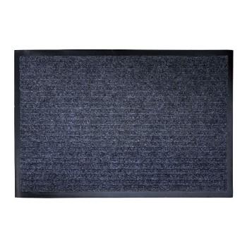 Коврик на резиновой основе 40*60см, серый ребристый