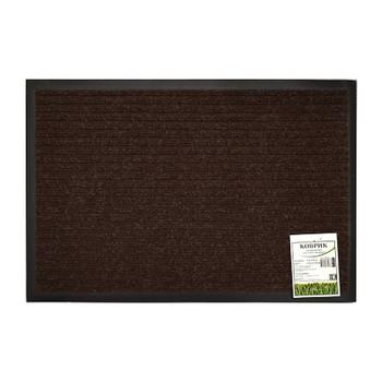 Коврик на резиновой основе 60*90см, коричневый ребристые