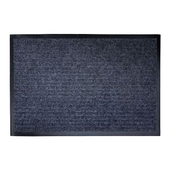 Коврик на резиновой основе 60*90см, серый ребристый