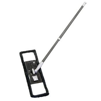 Швабра с телескоп. ручкой и пластик. платформой (+ сменная насадка из микрофибры)