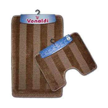 Коврик д/ванной Vonaldi Standart комплект:(55смх85см)+д/туалета коричневый
