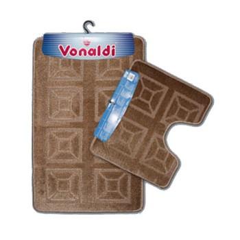 Коврик д/ванной Vonaldi Standart Комплект:(55смх85см)+д/туалета св. коричневый