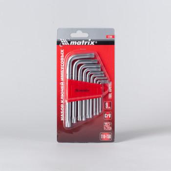 Ключи имбусовые-звездочки 1,5-10мм, короткие, 9 шт/уп, MATRIX