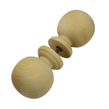 Ручка-кнопка банная деревянная, круглая